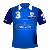 Polo Shirt Team Pommery  - Full Print mit Reißverschluss