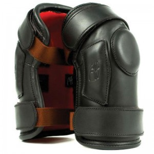 Black Polo Knee Pads with Two velcros