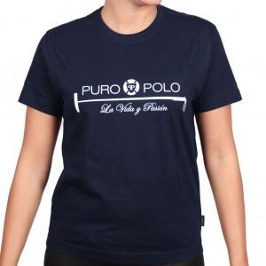 Puro-Polo Damen T-Shirt Blau