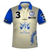 Polo Shirt Team Gut Straterhof - Full Print mit Reißverschluss