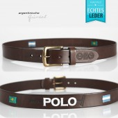 Argentinian Polo belt brown - wide - Model 23
